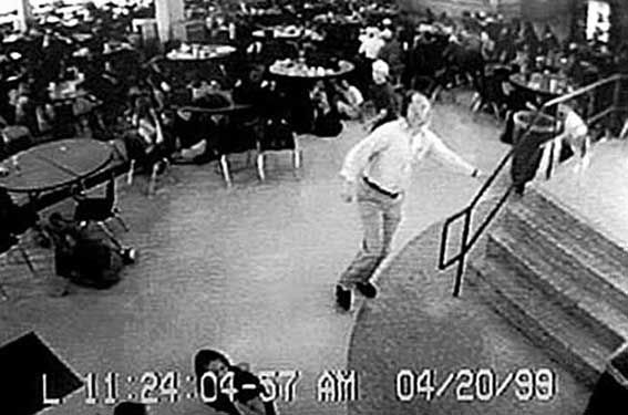 Powerful Images Snapped Before Tragedy Struck. COLUMBINE HERO DAVE SANDERS: On April 20,1999, two senior students opened fire on their classmates at Columnbine H.S. in Colorado. Teacher, Dave Sanders (seen above), warned 100s of students in the cafeteria to run and seek shelter before the shooters could find them. Sanders is considered to have saved dozens of lives, if not more. Sadly, Sanders, in his bid to warn students, encountered the killers in a hallway and was shot twice and killed.