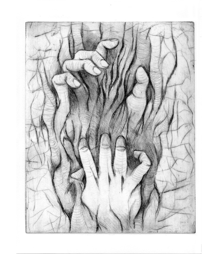 Hands | Drypoint