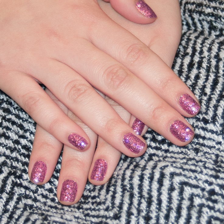 Incoco Charmed glitter manicure from the Valentine's Day Collection $8.99