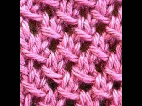 Demonstration of the Irish Mesh stitch.  For written pattern, please visit the blog:  http://theweeklystitch.blogspot.com/2011/09/irish-mesh.html