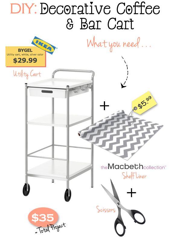 IKEA DIY bar cart