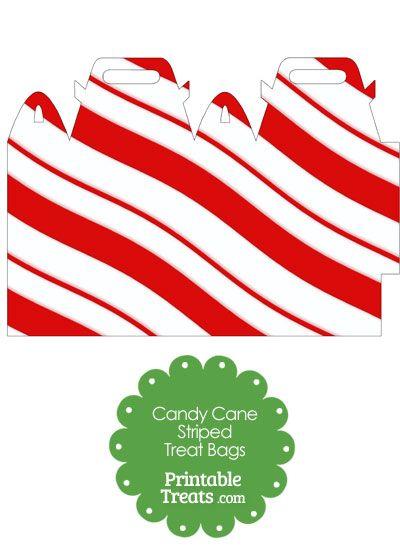 Candy Cane Stripes Treat Bag Printable From Printabletreats Com