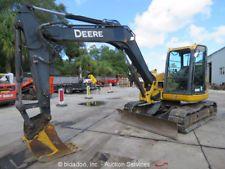 2013 John Deere 85D Mini Excavator Rubber Tracks Cab Heat/AC Swing Boom Backhoe apply to finance www.bncfin.com/apply excavators for sale - excavator financing