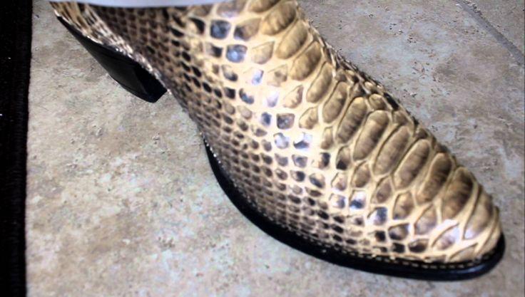 Natural Back Cut Python Boots