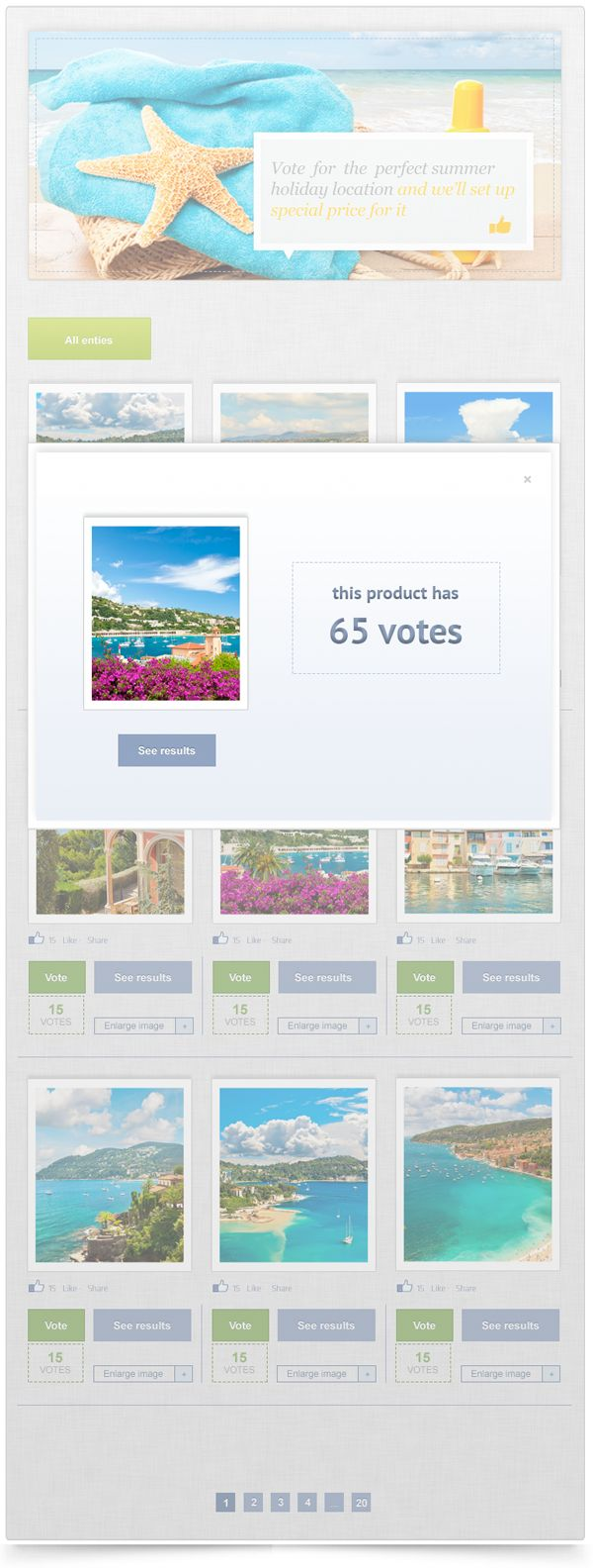 Vote Holiday Location - Photo  Video Facebook application