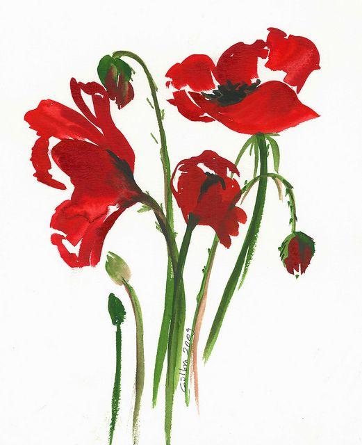 Beautiful poppies...watercolor