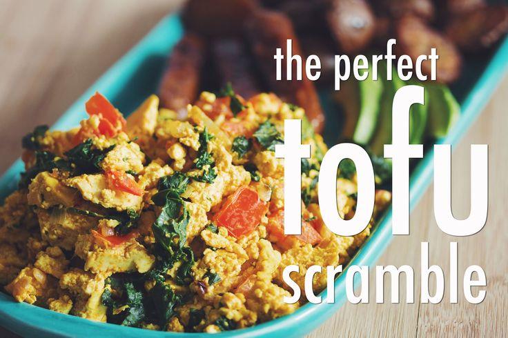 the perfect tofu scramble #vegan | RECIPE on youtube.com/hotforfoodblog