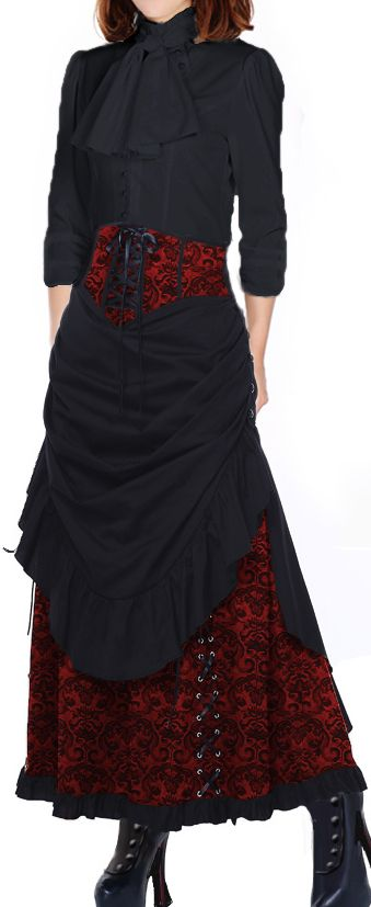 Steampunk Blouse and Skirt Chic Star design by Amber Middaugh