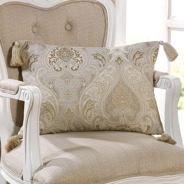 Beige Novello Collection Boudoir Cushion