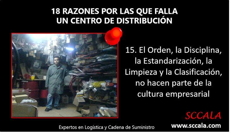15. El Orden, la Disciplina, la Estandarización, la Limpieza y la Clasificación, no hacen parte de la cultura empresarial