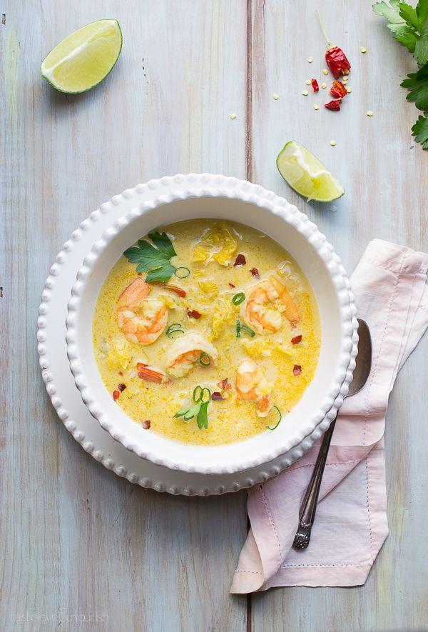 Thai Coconut Shrimp Soup from www.tasteloveandnourish.com |