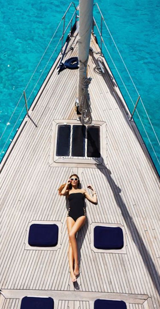 """The good life, clean lines, """"success,"""" relaxation, adventure, boat/yacht"""