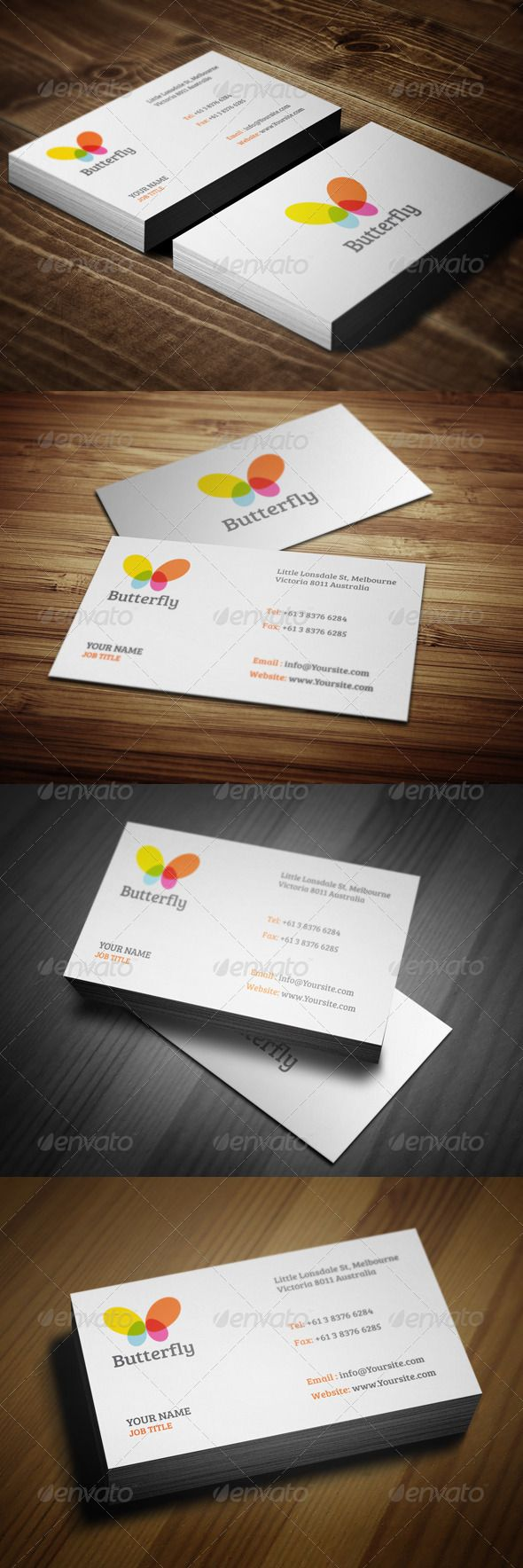 16 best simple business card mood board images on pinterest simple butterfly business cards reheart Choice Image