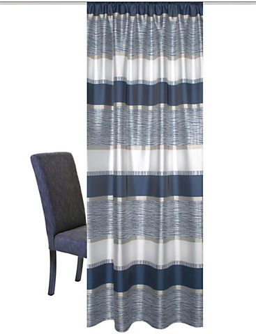 Vorhang, »Tilos«, HOME WOHNIDEEN, Kräuselband 1 Stück   in blau im Online Shop von Baur Versand