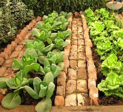 Ideas con ladrillos para el jardín 3
