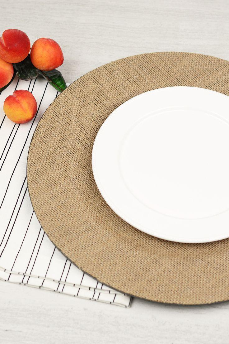 Burlap Charger Plates