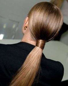 This sleek ponytail is perfect for a night out!