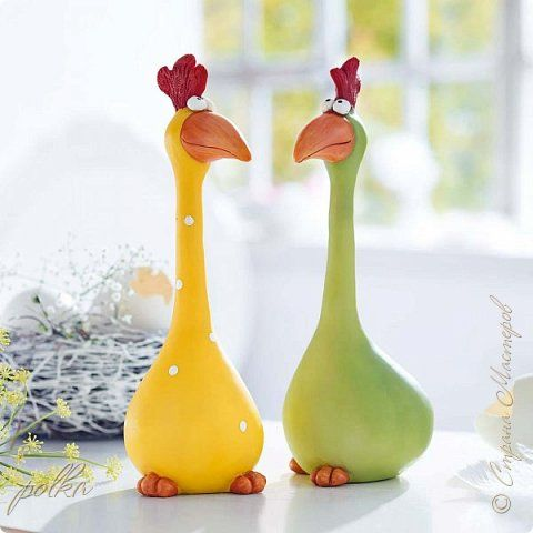 Crafts Crafts Sculpture Modeling Papier-mache Chickens Paper Adhesive Photo 2.....google traslate