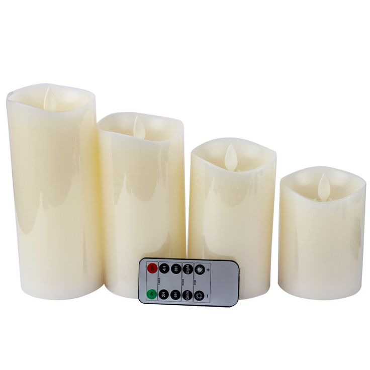 4 Sizes Flameless Light Home Decoration Novely Simulation Candle Lamp LED Electronic Candle Real Flame-effect Smokeless