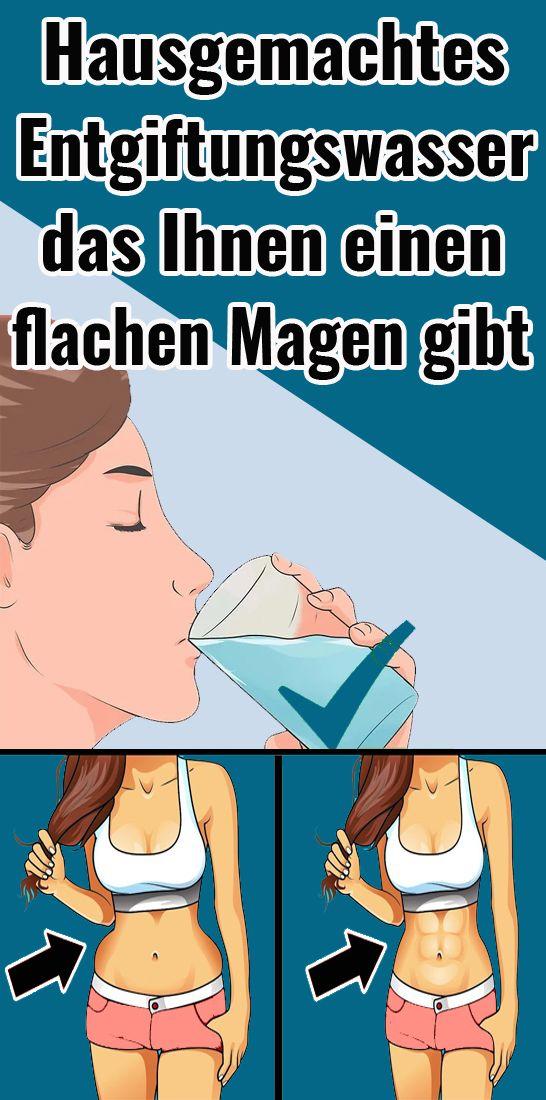 Hausgemachtes Entgiftungswasser, das Ihnen einen Magen gibt