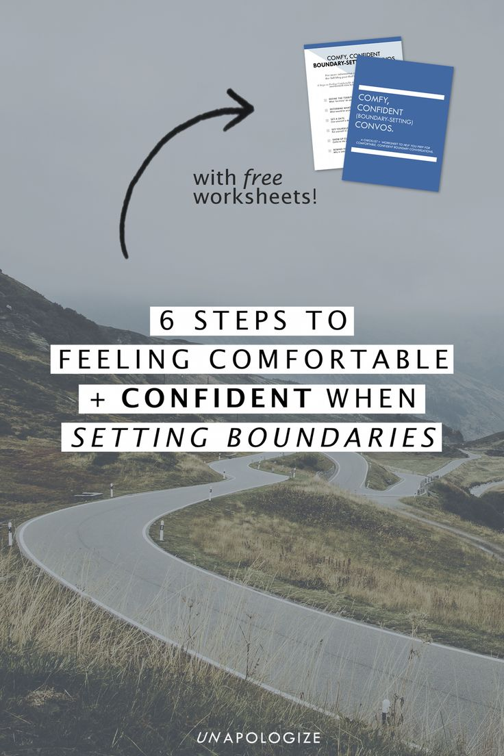 6 Steps to Feeling Comfortable + Confident When SETTING BOUNDARIES // Okay, so it's time to set a boundary with a friend or your partner or maybe at work. But the boundaries conversation doesn't have to feel awkward + gross! Preparing yourself ahead of time - using these 6 steps - will help you feel comfortable and confident when you setting personal and work boundaries! Click through to read the full post and download your free checklist + worksheets!