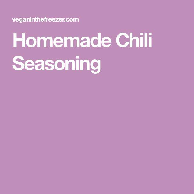 Homemade Chili Seasoning