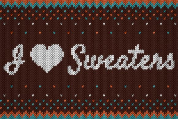I ♥ Sweaters - Smart Knitted Effect by Design as Religion on @creativemarket