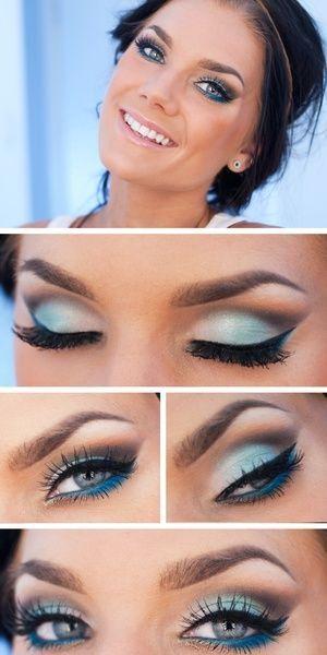 Om blauwe ogen extra te laten stralen.