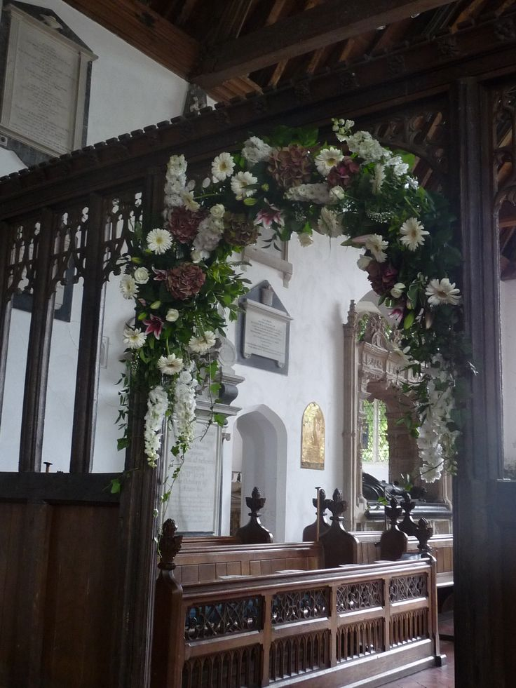 Loved dressing this archway at the Layer Marney Tower