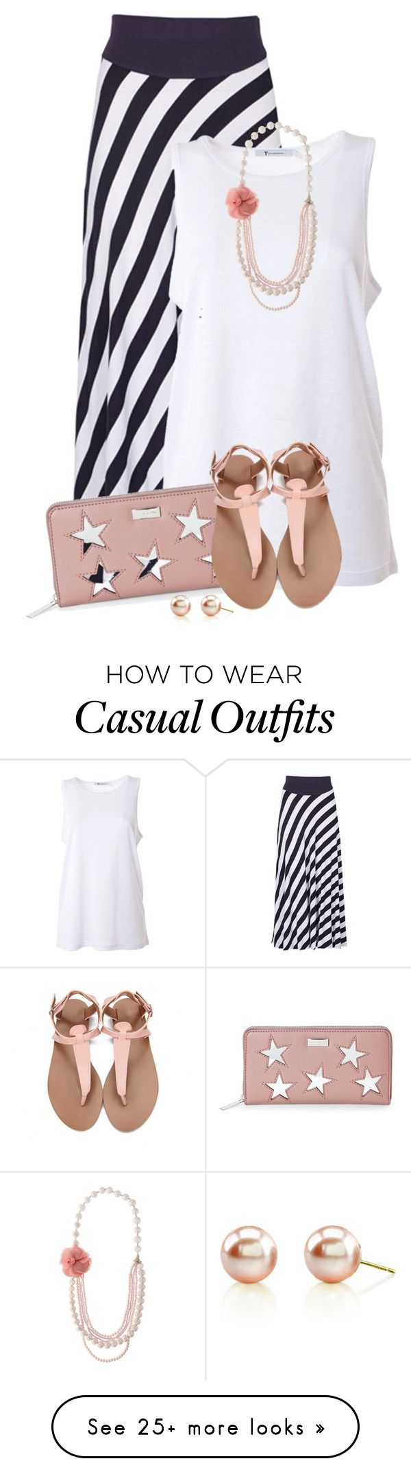 """Easy Summer Style"" by kginger on Polyvore featuring Izabel London, T By Alexander Wang, STELLA McCARTNEY and Adele Marie"