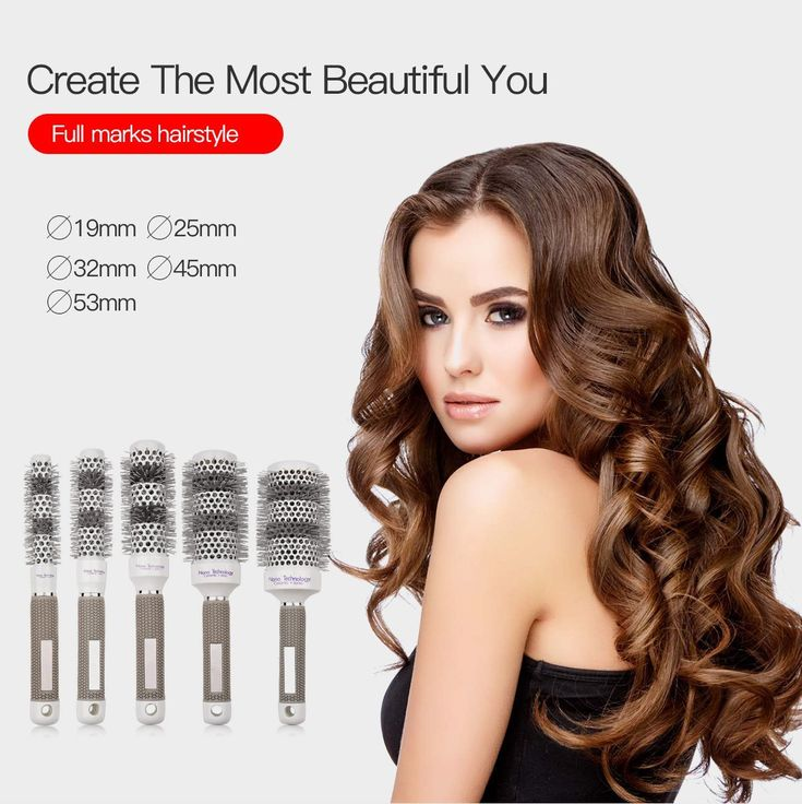 Ckeyin 5 Sizes Ceramic Comb Barrel Round Hair Brush Hairdressing Salon Hair Styling Tools ** Check out this great article. #hairoftheday