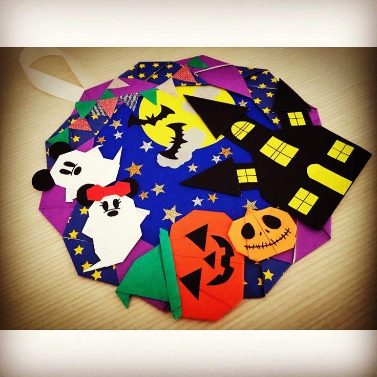 折り紙リースを作ろう《ハロウィン編》