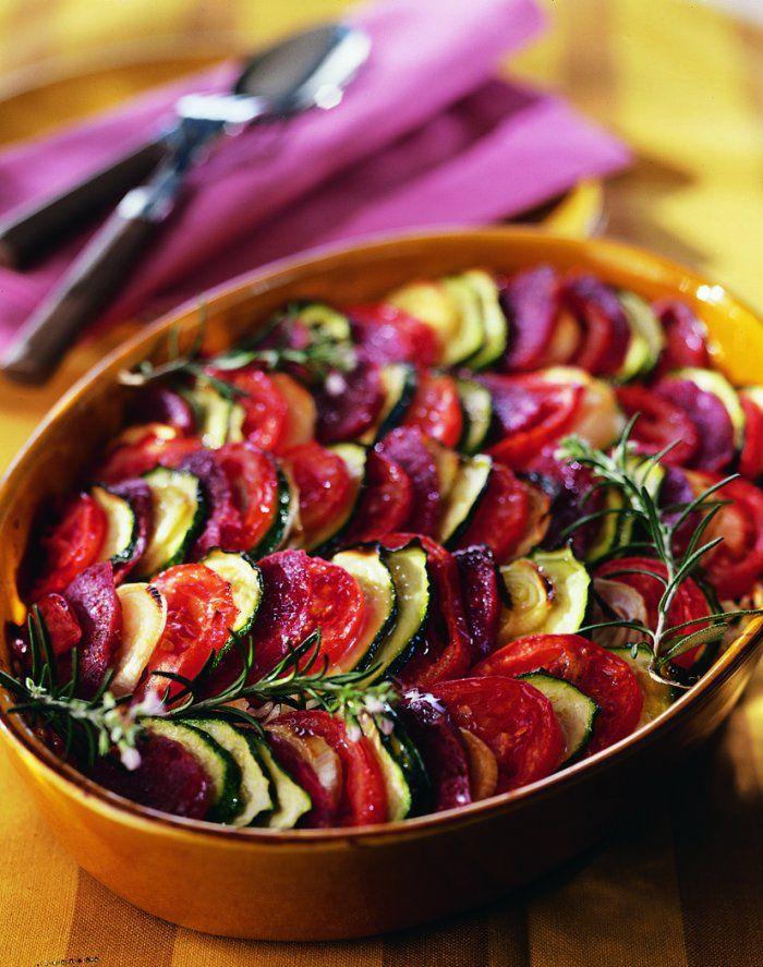 Tian de légumes du soleil au chorizo