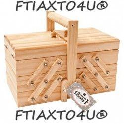 Κουτί ραπτικής σε επίπεδα, ξ'υλινο σε διαστάσεις 23Χ14Χ14.