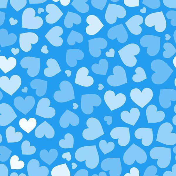 Hearts On Blue Seamless Pattern Heart Pattern Background Heart Wallpaper Heart Background