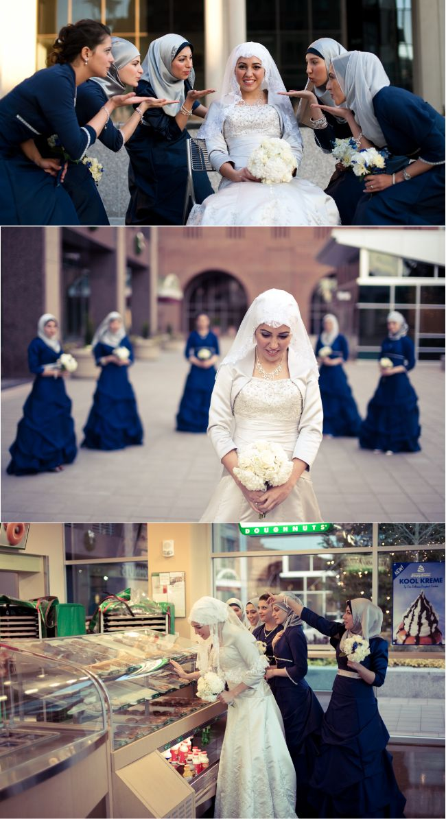 Cute hijabi wedding