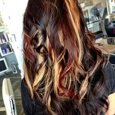 The 25 best red peekaboo highlights ideas on pinterest plum brown hair with blonde and red peekaboo highlights google search pmusecretfo Image collections