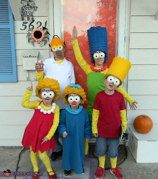 This 'Simpsons' family gets bonus points for not using yellow paint.