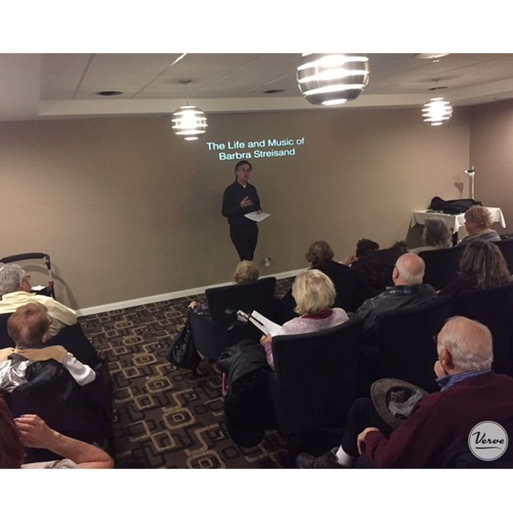 Dr. Mike Daley chronicled the life and music of iconic singer, songwriter, actress & filmmaker Barbara Streisand. An incredible afternoon for residents at Four Elms Retirement Residence. #verveseniorliving