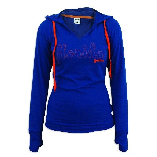 Florida Gators Ladies Blue Columbia Sun Shade Hoodie T-Shirt