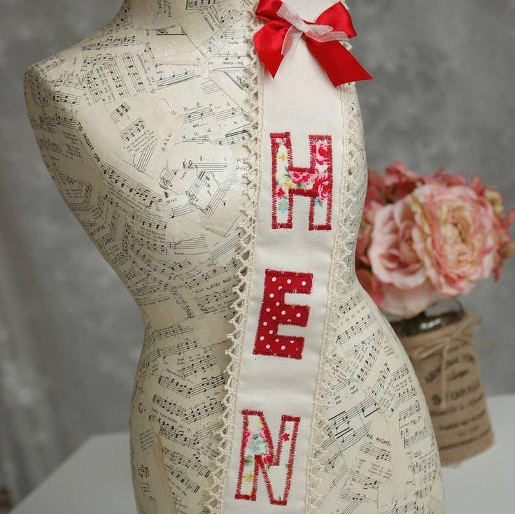 Hen Party 'Hen' Fabric Sash - Vintage Carnival