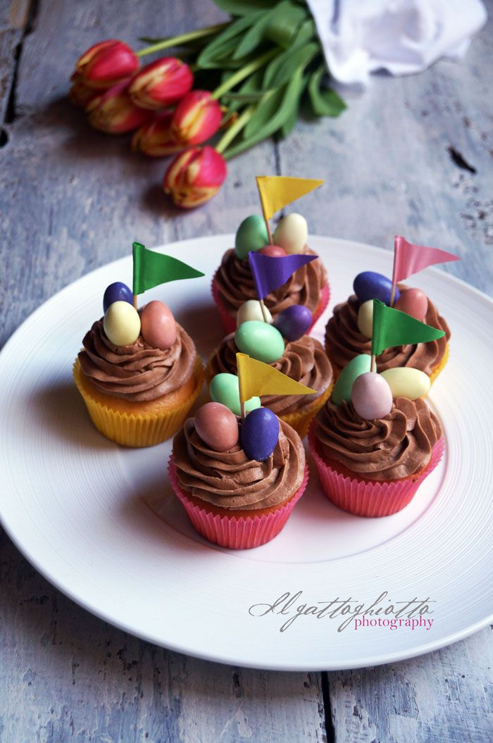il gattoghiotto: Cupcakes di Pasqua - Un segnaposto che si mangia :)