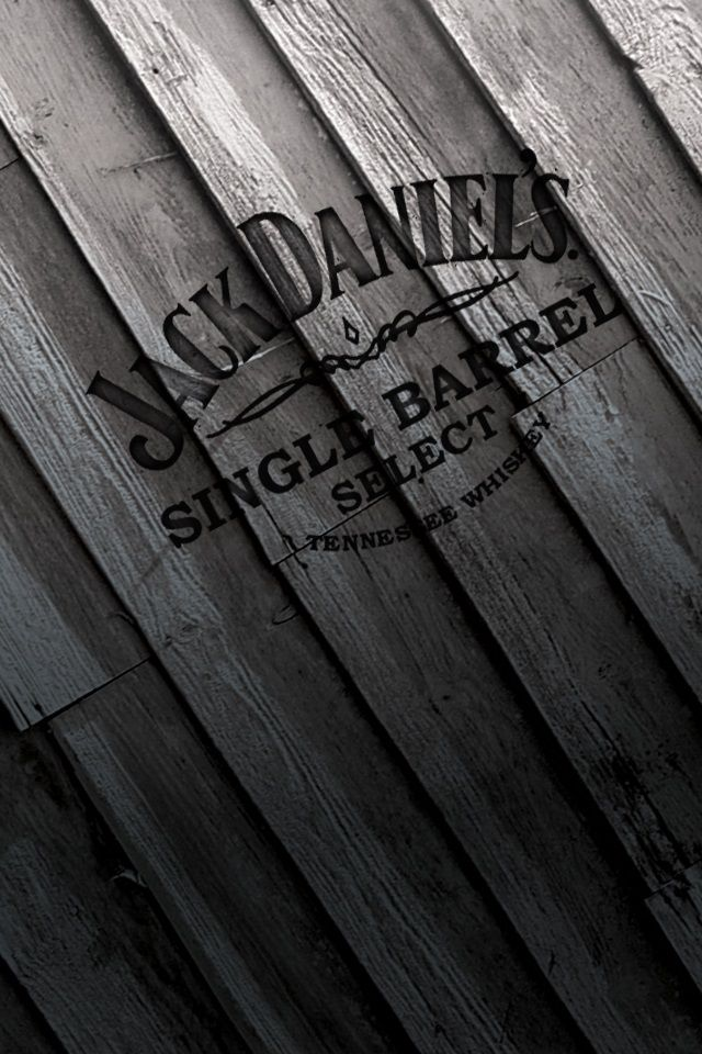 ↑↑TAP AND GET THE FREE APP! Art Creative Wood Drink Logo Brand Whiskey Jack Daniels HD iPhone 4 Wallpaper