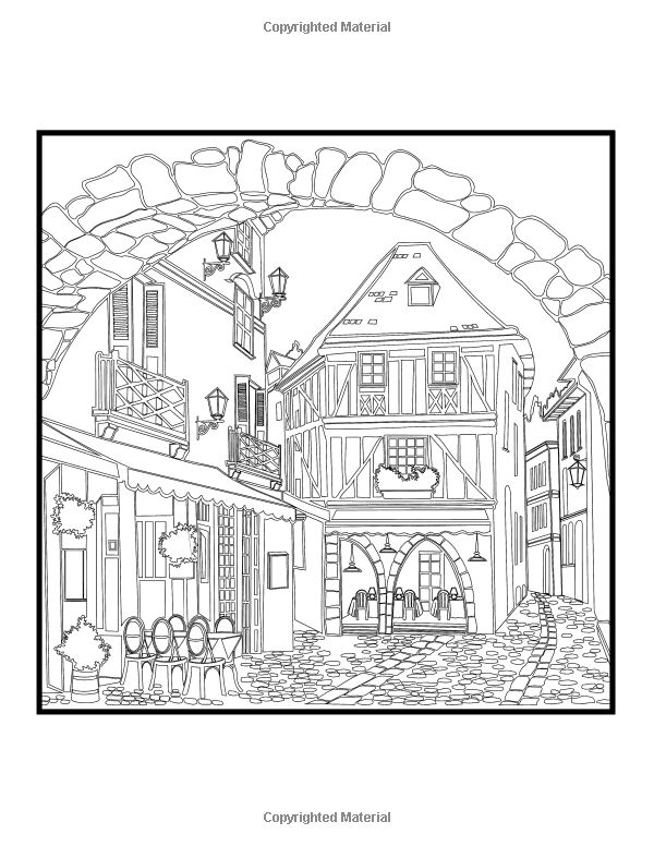 Architectural Art A Stress Management Coloring Book For Adults Penny Farthing Graphics 9781517481292