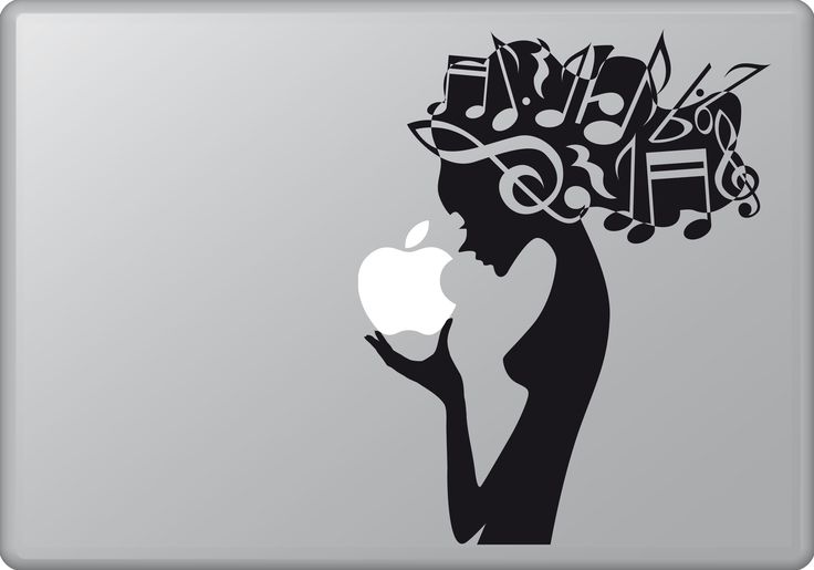 Woman and Music | MacBook sticker | #pasteit #sticker #stickers #macbook #apple #blackandwhite #art #drawing #custom #customize #diy #decoration #illustration #design  #decal #skin #cover #laptop #technology #pc #computer #peace #beauty #woman #music #notes #inspiration