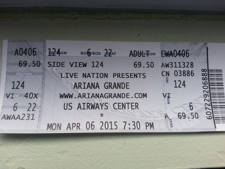 Ariana Grande Concert Tickets!!!