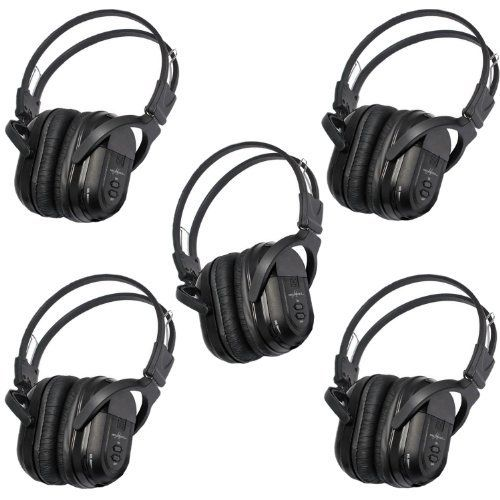 5 Pack of Two Channel Folding Universal Rear Entertainment System Infrared Headphones Wireless IR DVD Player Head Phones for in Car TV Video Audio Listening by Melodeez. $94.99. You will receive 5 wireless headphones. Enjoy music, movies and more! With these wireless infrared folding headphones. Automotive Grade IR Headphones: Will work on any vehicle that uses infrared headphones. No programming required! Simply turn on the headphones and they will connect to you...