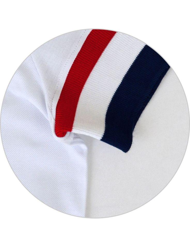 Camisa Polo Branca, Detalhe Especial (Punho Largo)