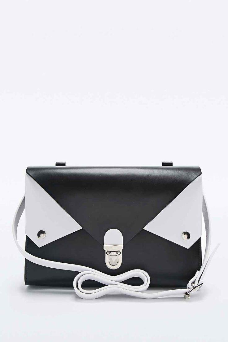 Kate Sheridan Tuck Tite Bag in Black and White