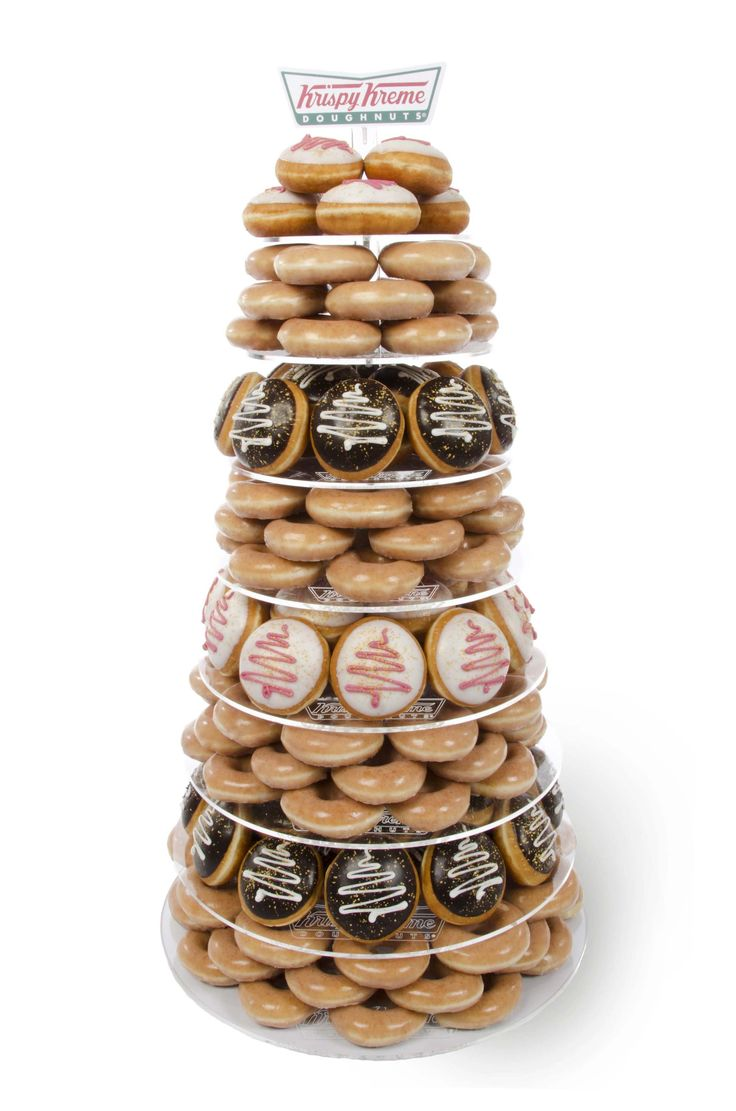Krispy Kreme UK Christmas Doughnut Tower  Donut display stand
